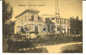 1920 RICCIONE (RN) Teatro Pietro SGHEDONI *Cartolina postale FP NV