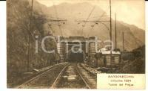 1915 ca BARDONECCHIA (TO) Veduta del tunnel del FREJUS *Cartolina FP NV