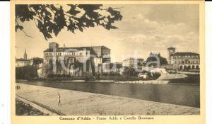 1930 ca CASSANO D'ADDA (MI) Fiume ADDA e Castello Borromeo *Cartolina FP NV