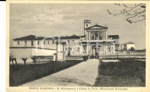 1915 ca BOSCO MARENGO Riformatorio e chiesa S. CROCE *Cartolina ANIMATA FP NV
