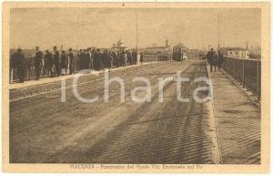 1930 ca PIACENZA Panorama dal ponte sul Po *Cartolina postale ANIMATA FP NV
