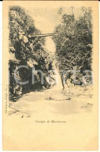 1900 ca MONDRONE (TO) Veduta della gorgia *Cartolina postale FP NV