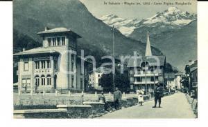 1930 ALAGNA VALSESIA (VC) Corso Regina Margherita *Cartolina ANIMATA FP VG