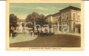 1930 ca SAN BENEDETTO DEL TRONTO (AP) Piazza Roma *Cartolina postale FP NV