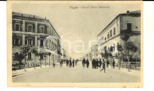 1920 ca FOGGIA Corso Pietro GIANNONE *Cartolina ANIMATA FP NV VINTAGE