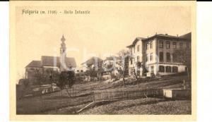1920 ca FOLGARIA (TN) Asilo infantile *Cartolina postale VINTAGE FP NV