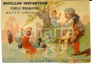1900 ca SALTO (URUGUAY) Bouillon CIBILS HERMANOS Figurina pubblicitaria L'EAU