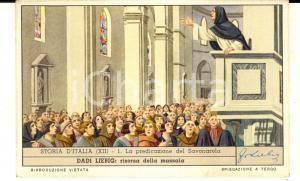 1957 Figurine DADI LIEBIG - STORIA D'ITALIA - Predicazione del Savonarola