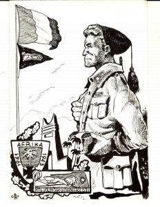 1975 ca Reggimento GIOVANI FASCISTI - Cartolina Sacrario PONTI SUL MINCIO