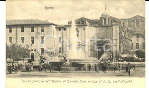 1900 ca ROMA Nuova fontana dell'Esedra di TERMINI *Cartolina ANIMATA FP NV