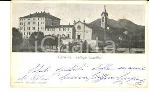 1902 CUORGNE' (TO) Veduta del Collegio Convitto *Cartolina postale FP VG