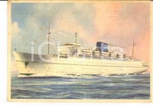 1957 GRIMALDI - SICULA OCEANICA Turbonave VENEZUELA *Cartolina illustrata