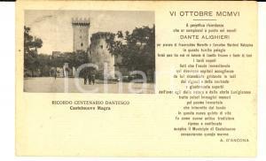 1929 CASTELNUOVO MAGRA (SP) Centenario dantesco - A. D'ANCONA *Cartolina FP VG