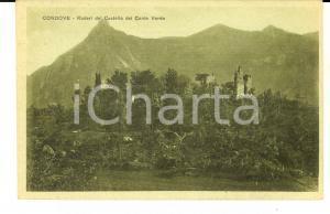 1920 CONDOVE (TO) Ruderi del Castello del Conte Verde *Cartolina FP VG