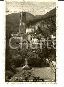 1944 ARCISATE Abside della chiesa e monumento al prev. CAPPELLETTI *Cartolina FP