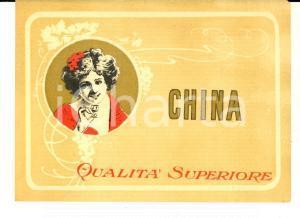 1920 ca Liquore CHINA Qualità superiore - Etichetta pubblicitaria VINTAGE 13x9