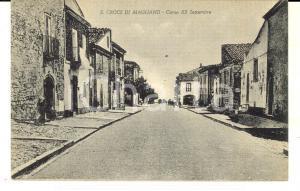 1915 ca SANTA CROCE DI MAGLIANO Corso XX Settembre *Cartolina ANIMATA FP NV