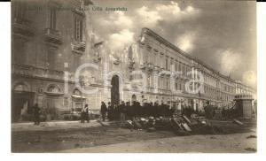 1908 MESSINA TERREMOTO Panorama della città devastata  *Cartolina ANIMATA FP