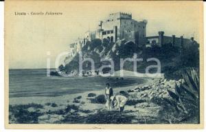 1925 LICATA (AG) Veduta con il Castello FALCONARA *Cartolina ANIMATA FP VG