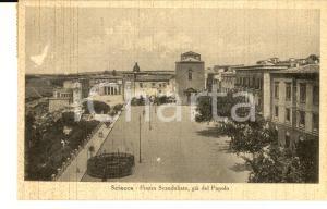 1945 SCIACCA (AG) Piazza SCANDALIATO già del Popolo *Cartolina postale FP VG