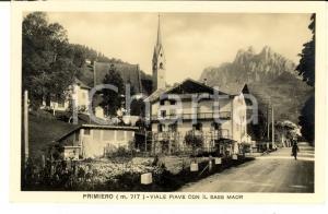 1934 PRIMIERO (TN) Viale PIAVE con il SASS MAOR *Cartolina postale FP