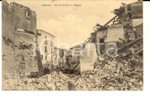 1915 CELANO (AQ) Via di PORTA S. ANGELO dopo il terremoto *Cartolina FP VG