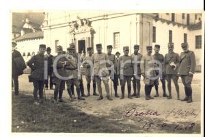1918 WW1 OROPA Gruppo di ufficiali davanti al santuario *Foto 15x10 cm