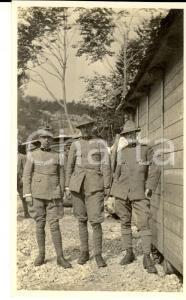 1918 WW1 ZONA DI GUERRA Ufficiali dell'ARTIGLIERIA DA MONTAGNA *Foto 10x15
