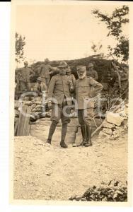 1918 WW1 ZONA DI GUERRA Gruppo di ufficiali presso una trincea *Foto 10x15 cm