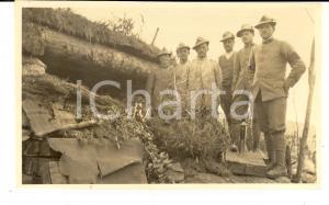 1918 WW1 ZONA DI GUERRA Ufficiali ARTIGLIERIA DA MONTAGNA al fronte *Foto 15x10