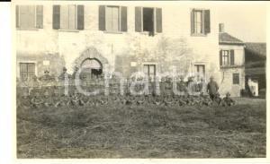 1918 WW1 ZONA DI GUERRA Battaglione di alpini presso una dimora rurale - Foto