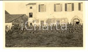 1918 WW1 ZONA DI GUERRA Battaglione ALPINI presso una dimora rurale *Foto