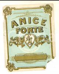 1950 ca Liquore ANICE forte *Etichetta pubblicitaria VINTAGE DANNEGGIATA