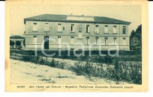 1915 ca SAN FELICE SUL PANARO Ospedale - Padiglione COCCHI *Cartolina FP NV