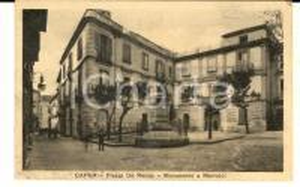 1935 CAPUA (CE) Piazza DE RENZIS - Monumento a MARTUCCI *Cartolina FP FG