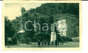 1932 COSENZA Piazza XV Marzo - Giardini Pubblici *Cartolina ANIMATA FP VG