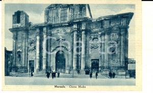1942 MARSALA (TP) Veduta della Chiesa Madre *Cartolina ANIMATA FP VG