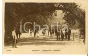 1932 MERANO (BZ) Passeggiata superiore *Cartolina ANIMATA VINTAGE FP VG