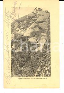 1912 CUMIANA (TO) Cappella sui TRE DENTI *Cartolina VINTAGE FP VG ANIMATA