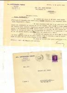 1944 STORIA POSTALE RSI MILANO Lettera Antonmaria FABIANI 50 cent sovrastampa