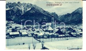 1933 DOBBIACO (BZ) Panorama del paese - VAL PUSTERIA *Cartolina FP VG