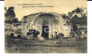 1920 ca TIVOLI (RM) Villa Adriana - Avanzi del tempio di Serapide *Cartolina FP