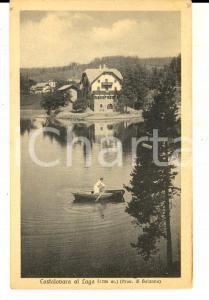 1915 LAGO DI COSTALOVARA Una donna in barca *Cartolina VINTAGE FP NV