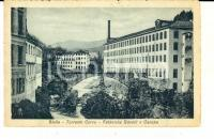 1925 BIELLA Torrente CERVO Fabbriche RAVELLI e CANEPA *Cartolina FP VG