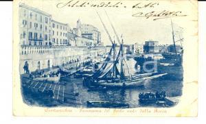 1902 CIVITAVECCHIA (RM) Panorama del porto visto dalla Rocca *Cartolina FP VG