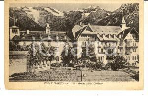 1938 COLLE ISARCO (BZ) Grand Hotel GROBNER *Cartolina postale FP VG