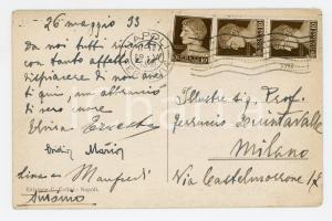 1933 NAPOLI La nuova via LITORANEA *Cartolina famiglia Ferruccio QUINTAVALLE