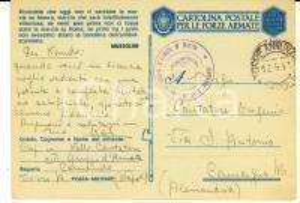 1943 WW2 XIII Gruppo ARTIGLIERIA D'ARMATA Cartolina cap. Nello CANTATORE