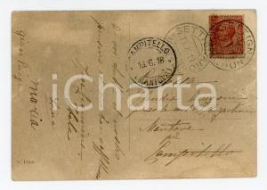 1918 FIRENZE SETTIGNANO Panorama *Cartolina famiglia contessa Claudia ARRIGONI