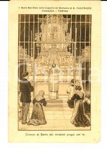 1915 ca PIANEZZA Cappella Santuario SAN PANCRAZIO - Santo Sacrificio *Cartolina